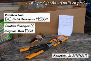 Réception cisaille à haie et Sécateur PX92 - Fiskars - Outils en prêt - DZprod Jardin
