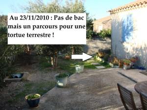 Terrasse et bac entrée au 23-11-2010
