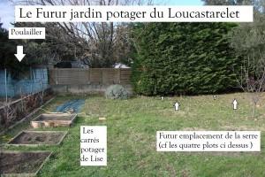 Emplacement de la future serre Luna+ au potager du Loucastarelet au 31-01-2015