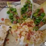 Salade endive-emmental et fève du 08-05-2015