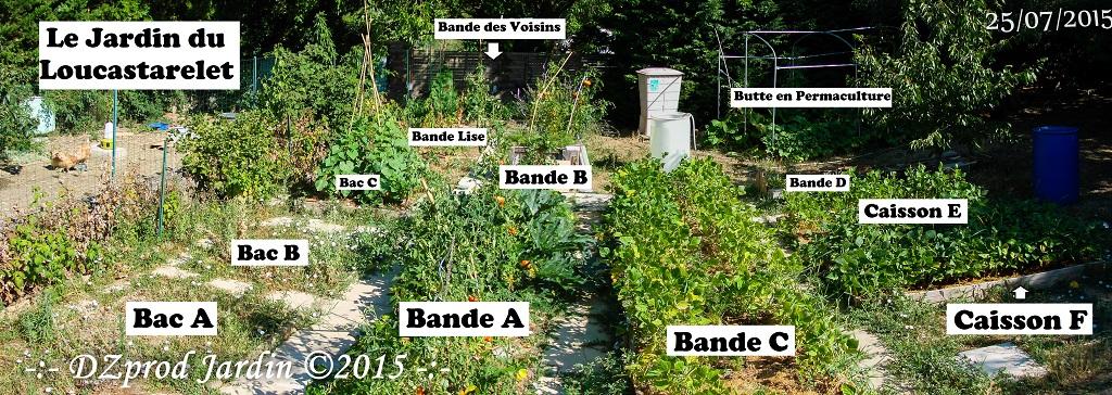 Panorama du Jardin du Loucastatrelet - DZprod Jardin - 25 juillet 2015
