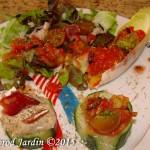 Salade de tomate et médaillon de concombre - DZprod Jardin - 11 juillet 2015