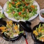 Salade fleur de courgette du 08-07-2015