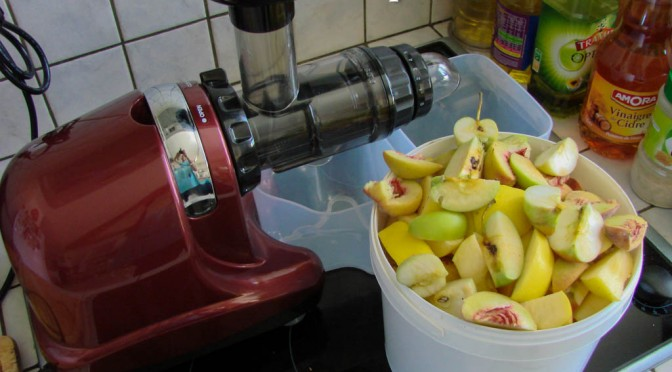 Rendement d'un jus : Poires – Pommes – Pêche (du jardin)