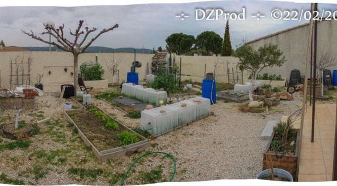 Vue d'ensemble Année 2016 du jardin DZprod