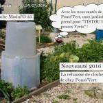 Nouveauté Rehausse de cloche Pouss-Vert - DZprod Jardin - 29 mars 2016