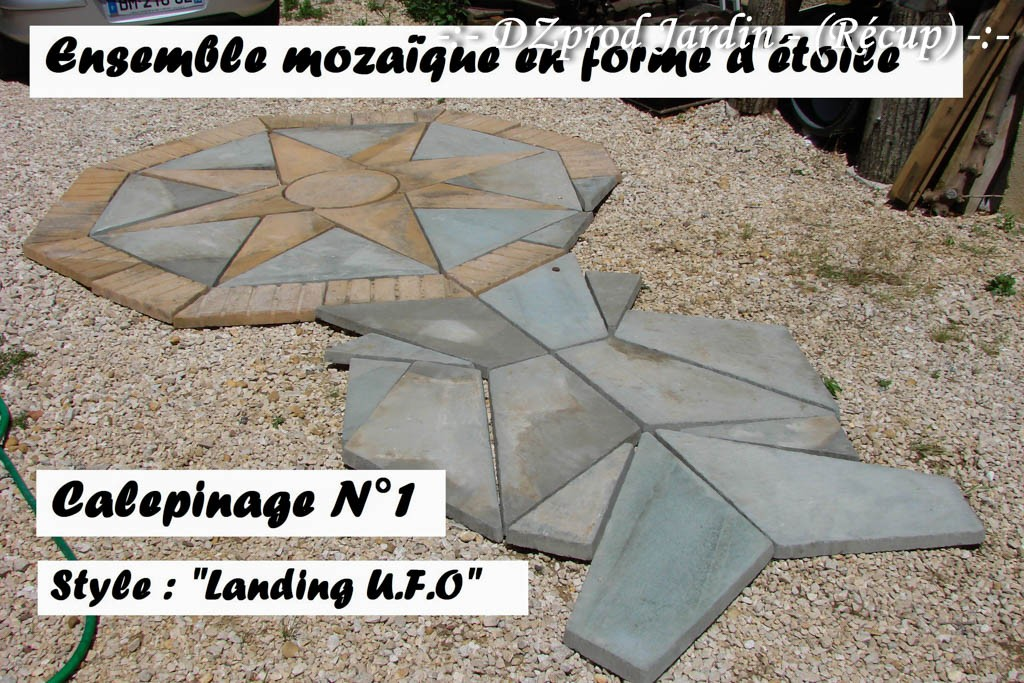 Ensemble mozaïque et Calepinage Landing UFO - DZprod Récup - 19 juin 2016
