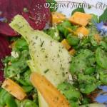 Macro Salade Fève et fleur de bourrache - DZprod Jardin - 10 juin 2016