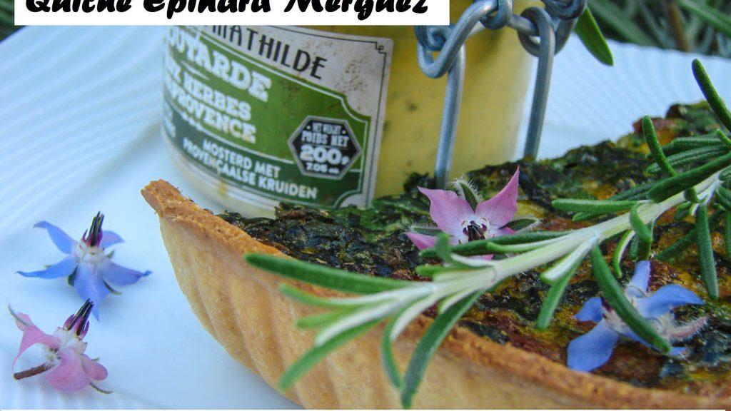 Quiche Épinard Merguez- Moutarde du comptoir de Mathilde - DZprod Jardin - 28 juin 2016