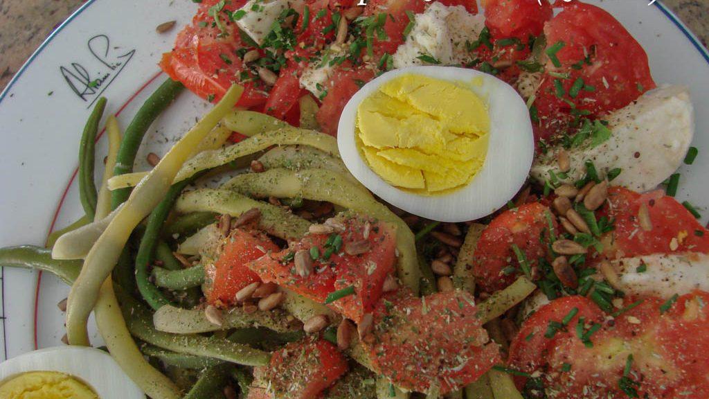 Haricot - Tomate Mozza et oeuf - DZprod Jardin - 14 juillet 2016