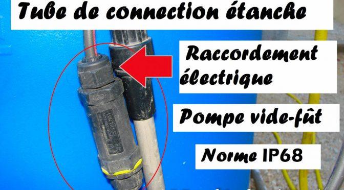Réparation fil électrique pompe vide fût