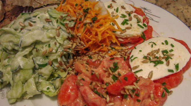 Salade de crudités 100% du jardin