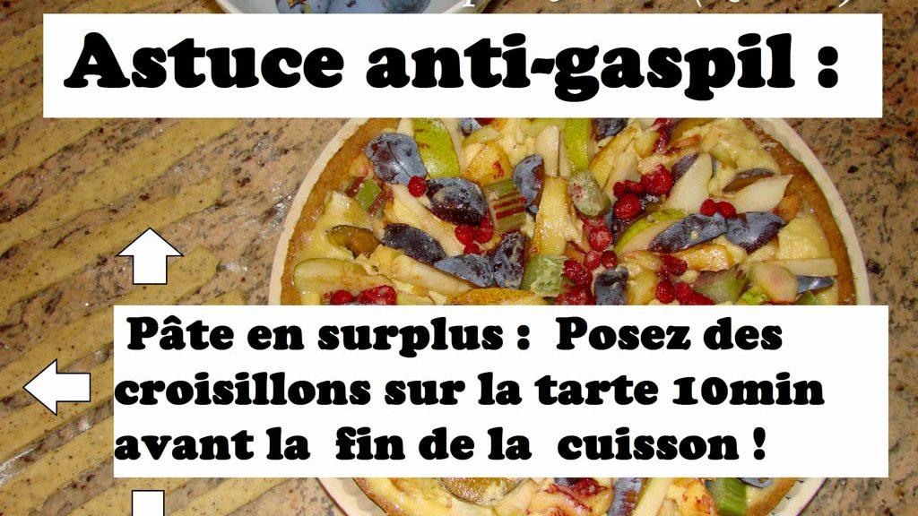 Astuce pour le Surplus de pâte à tarte - DZprod Recette - 29 août 2016