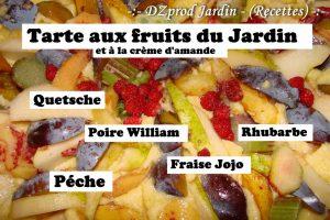 tarte amandine aux fruits du jardin - DZprod Recette - 29 août 2016