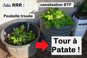 RRR - poubelle trouée en tour à patate
