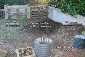 Stock de Compost et BRF Pébrier - Dzprod Jardin de quartier - 23-12-2016