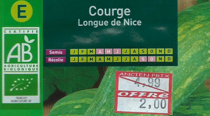 Courge Longue de Nice