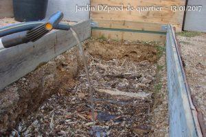 Inondation pour un effet éponge - Bac B4 - Jardin de quartier