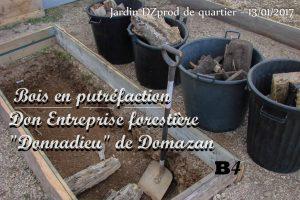 Mise en place - lit de bois mort - entreprise forestiere Donnadieu - Bac B4 - 13-01-2017 - Jardin de quartier