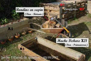 rondins pour B1 - jardin de quartier - DZprod - 05-01-2017