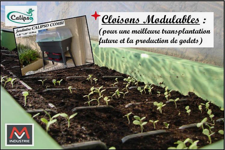 Jardinière Calipso - production de godet - DZprod Jardin