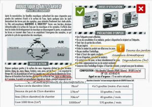 Barrière anti-larves - COMPO France SAS - Indication au verso