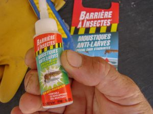 Test Barrière moustiques anti-larves - CUVE 1000 litres