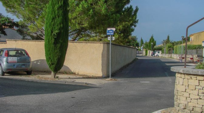 Accident Scotto – avenue Provence – Rochefort du Gard