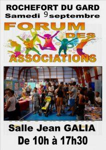 Forum des associations à Rochefort du Gard - 9 septembre 2017 - salle Jean Galia