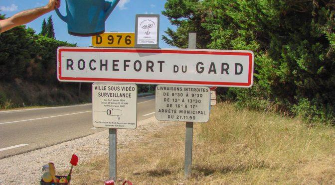 Les incroyables comestibles de Rochefort du Gard : photos montage pour l'asso la Jarre écocitoyenne.