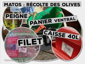 Prévision achat - récolte des olives - association la jarre écocitoyenne - 2017