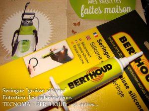 Entretien pulvérisateur - seringue silicone BERTHOUD - TECNOMA - DZprod Jardin - 27-01-2018