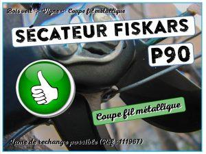 Lame de rechange sécateur P90 Fiskars - ref 111967 - DZprod Jardin