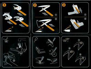 Planche entretien outils de coupe FISKARS - affutage 25 30 ou 40 degre