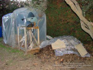 Tas de compost à ciel ouvert - mix fait le 12-02-2018