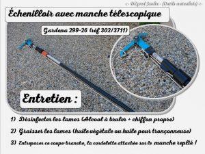 échenilloir Gardena avec manche télescopique - outils en prêt - DZprod Jardin
