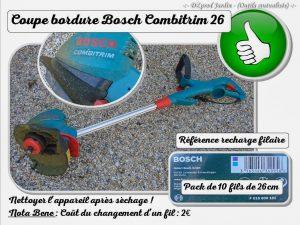 Coupe bordure BOSCH Combitrim 26 - outils mutualisable - association DZprod Jardin