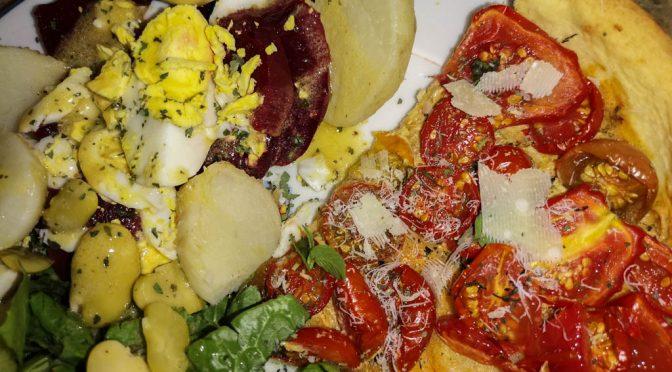 La fierté d'une salade 100% du jardin !