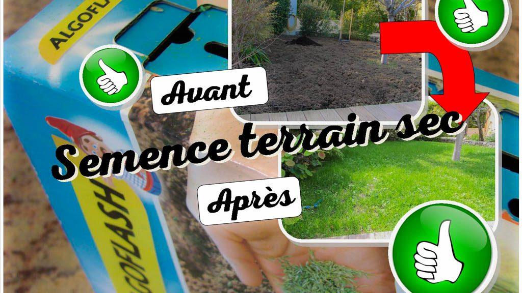 Algoflash test semence terrain sec et ensoleillé - dzprod Jardin 2018