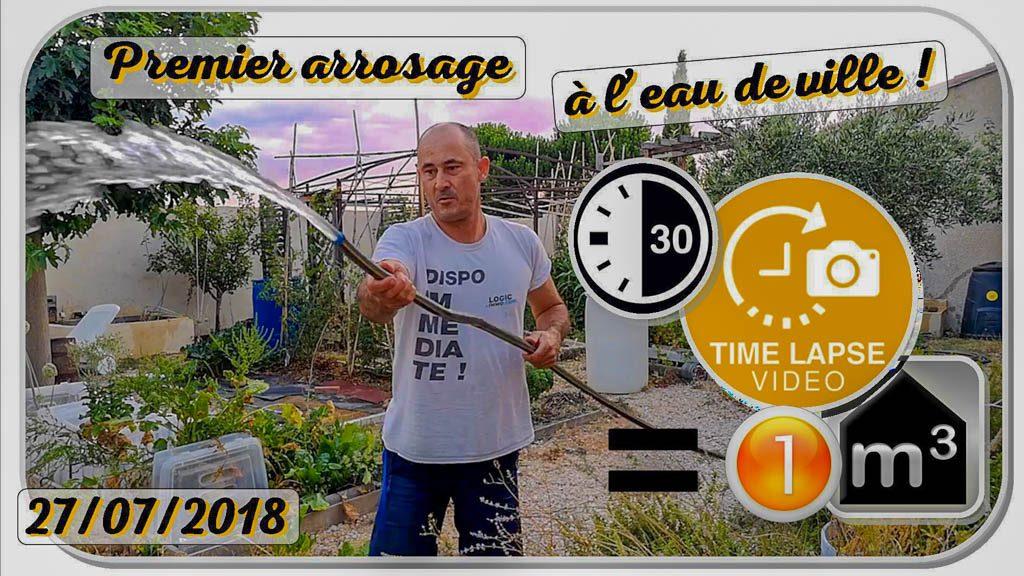 Premier arrosage eau de ville - dzprod jardin - 27-07-2018