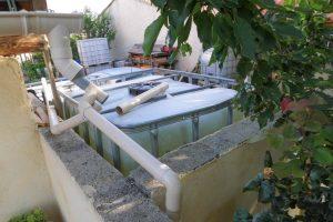 Récupération eau de pluie - essai descente multiusage - cuve ou extérieur - DZprod Jardin