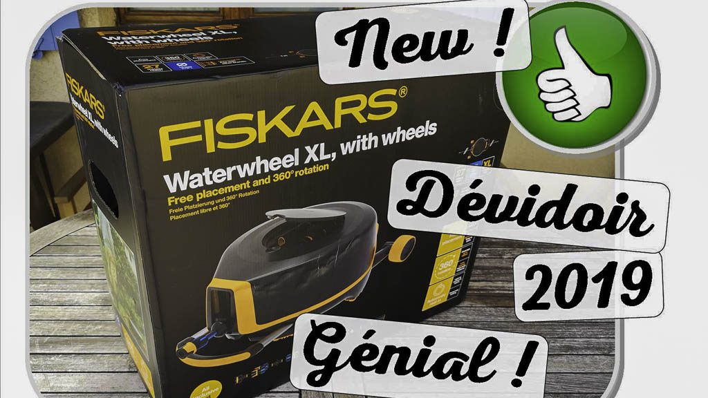 Dévidoir XL Fiskars - waterwheel - nouveauté 2019 - dzprod Jardin - 14-03-2019