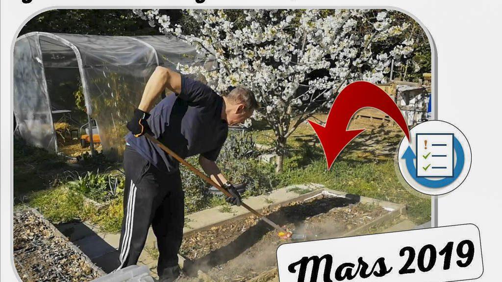 Fin Mars 2019 au jardin partagé du Lou Cascarelet - Dzprod Jardin - Franck émiette