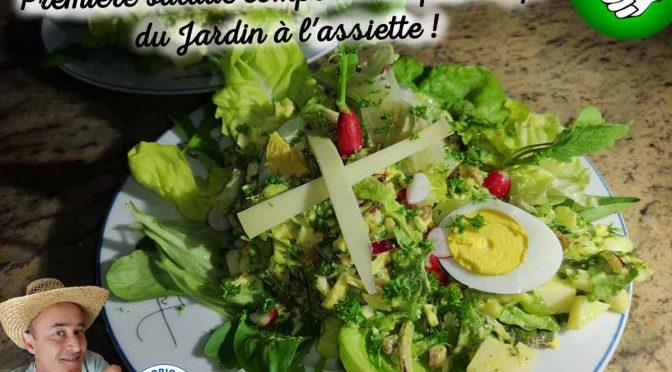 Première salade composée de printemps du jardin de DZprod à l'assiette !