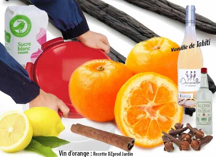 Recette de vin d'orange à la vanillede Tahiti