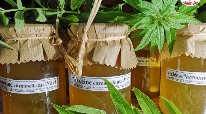 Gelée de Verveine citronnelle et Mélisse au miel